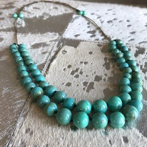 Banana Republic Blue Beaded Necklace
